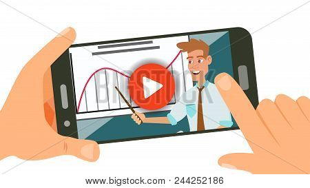 Video Tutorial Vector. Streaming Video. Online Education. Study And Learning Background. Business Co