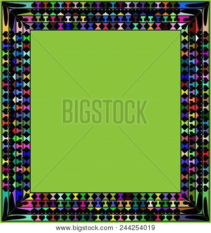 Abstract Colored Background Image Of Frame Consisting Of Lines And Figures