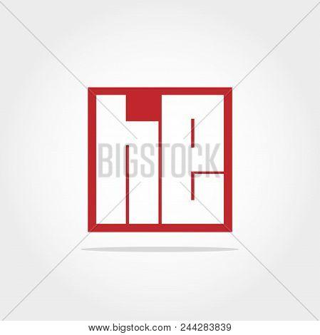 Initial Letter He Logo Template Vector Design