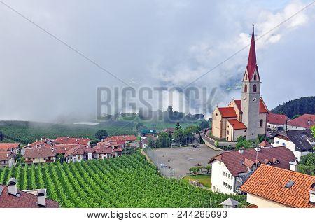 Beautiful Church In Small Tirolean Village