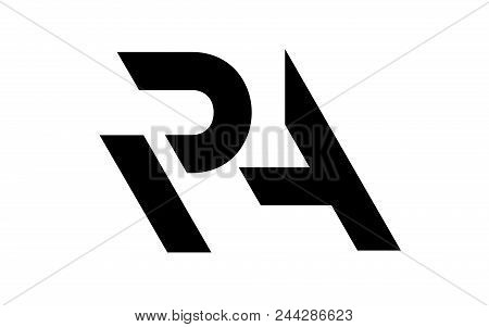 Letter R And A Cutted Join Logo. Simple Illustration Of Letter R And A Cutted Join Logo Vector Image