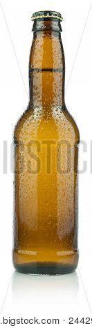 Bottle of refreshing beer