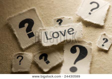 Liebe in Frage