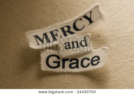 An image of a religion concept - Mercy and Grace poster