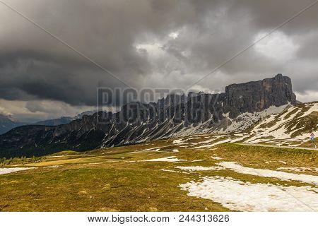 Passo Giau Near Cortina D Ampezzo  Alps Dolomites Mountains, Italy