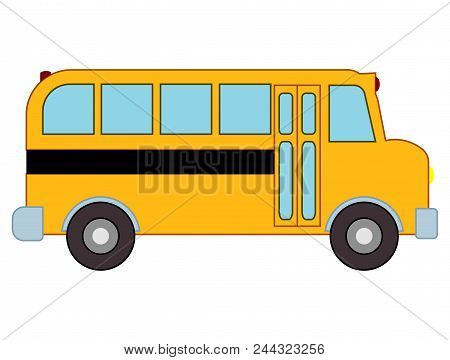 Yellow School Bus. Can Be Utilized For Any School Project, Class Project By Teachers Or School Admin
