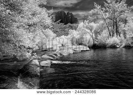Infrared Oak Creek Sedona Arizona Early Morning Light
