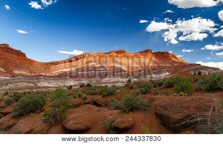 Beautiful Play Of Light And Shadow On The Rainbow-like Rock Formations Of Grand Staircase-escalante