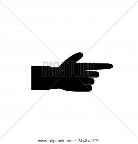 Pointing Finger Illustration Of Businessman Black Hand With Index Finger Pointing Isolated On White