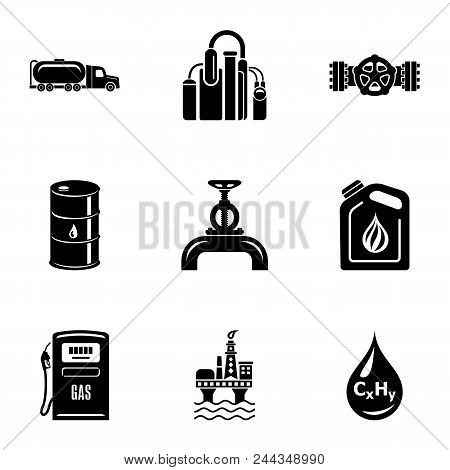 Petroleum Icons Set. Simple Set Of 9 Petroleum Vector Icons For Web Isolated On White Background