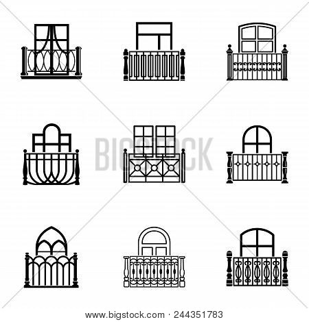 Pane Icons Set. Simple Set Of 9 Pane Vector Icons For Web Isolated On White Background