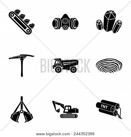Mineral Icons Set. Simple Set Of 9 Mineral Vector Icons For Web Isolated On White Background