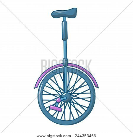 One Wheel Cycle Icon. Cartoon Of One Wheel Cycle Vector Icon For Web Design Isolated On White Backgr