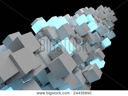 Abstract Cube Pillar