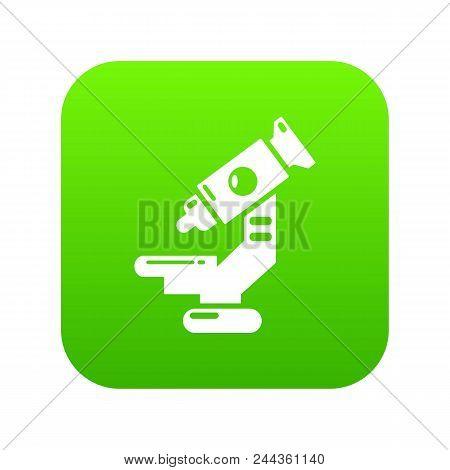 Microscope Icon. Simple Illustration Of Microscope Vector Icon For Web