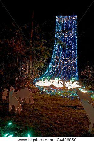 Waterfall In Christmas Lights