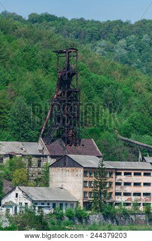 Anina Iron Works. Abandoned Mining Facility. Historical Place.