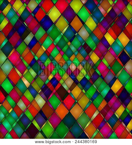 Abstract Colored Background Image Consisting Of Lines And Cubes