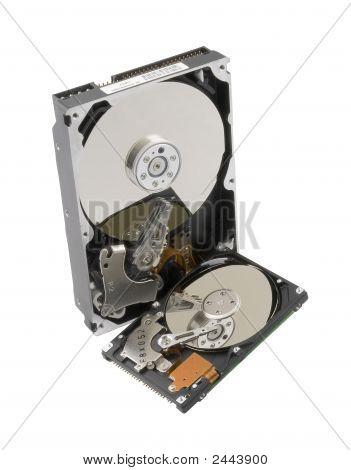 Two Computer Hard Disks.
