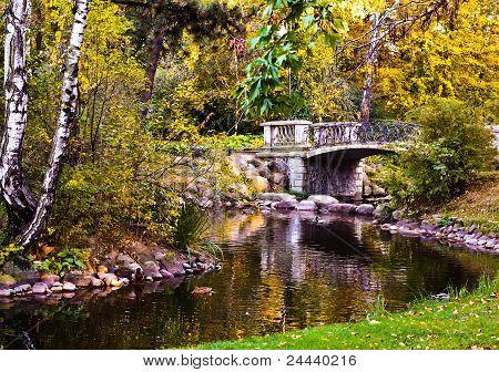 Park Ujazdowski W Warszawie. Autumn.  Warszawa. Poland