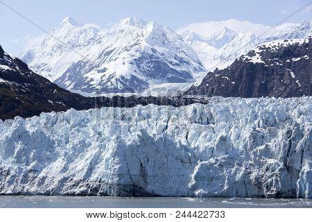 The Scenic View Of A Glacier In Glacier Bay National Park (alaska).