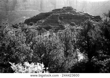 Black And White Country Mountains Surrounding Sedona Arizona