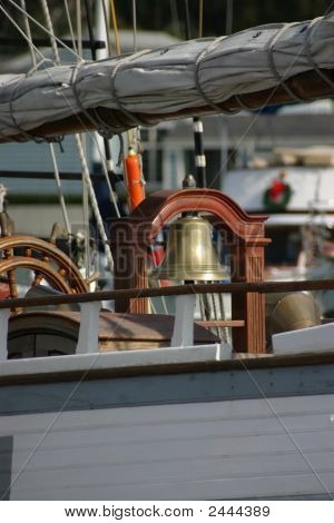 Tall Ship Bell And Wheel