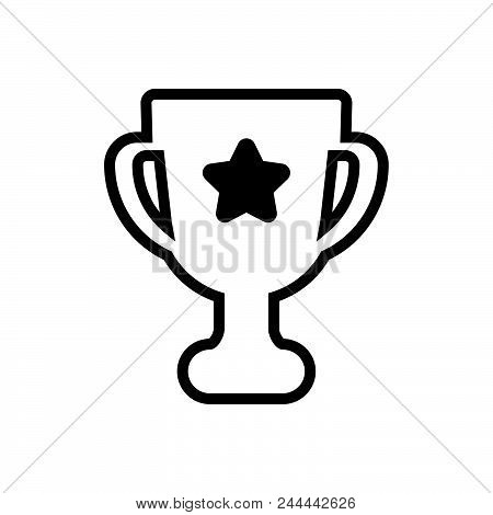 Championship Cup Vector Icon On White Background. Championship Cup Modern Icon For Graphic And Web D