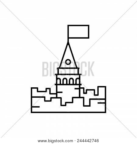 Medieval Castle Vector Icon On White Background. Medieval Castle Modern Icon For Graphic And Web Des