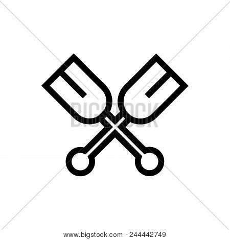 Oars Vector Icon On White Background. Oars Modern Icon For Graphic And Web Design. Oars Icon Sign Fo