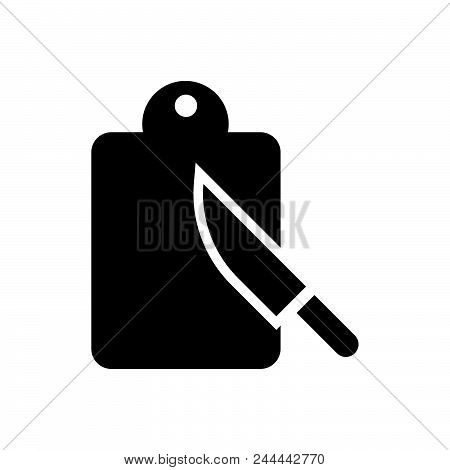 Cutting Board Vector Icon On White Background. Cutting Board Modern Icon For Graphic And Web Design.