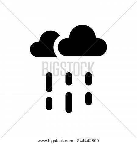 Rainy Weather Vector Icon On White Background. Rainy Weather Modern Icon For Graphic And Web Design.