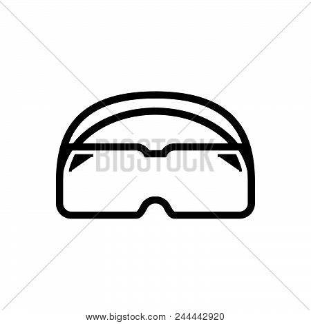 Diving Glasses Vector Icon On White Background. Diving Glasses Modern Icon For Graphic And Web Desig