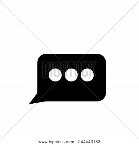 Message Bubble Vector Icon On White Background. Message Bubble Modern Icon For Graphic And Web Desig