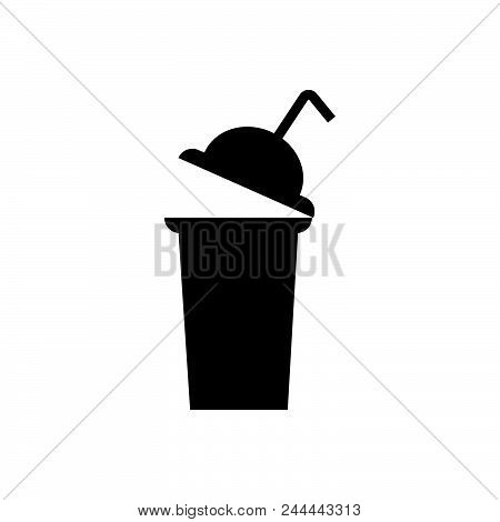 Drink Cup Vector Icon On White Background. Drink Cup Modern Icon For Graphic And Web Design. Drink C