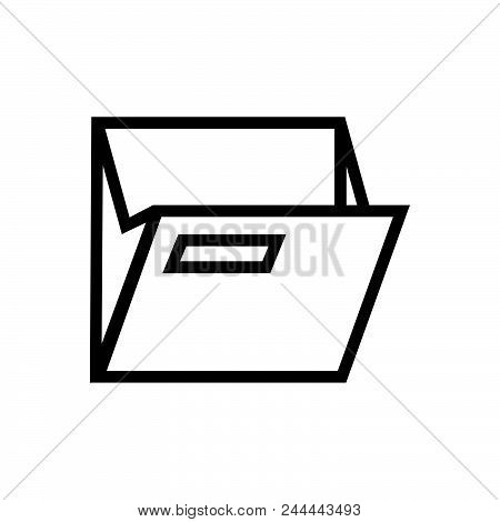 Open Folder Vector Icon On White Background. Open Folder Modern Icon For Graphic And Web Design. Ope
