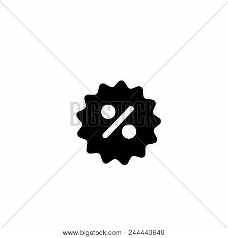 Percent Tag Vector Icon On White Background. Percent Tag Modern Icon For Graphic And Web Design. Per