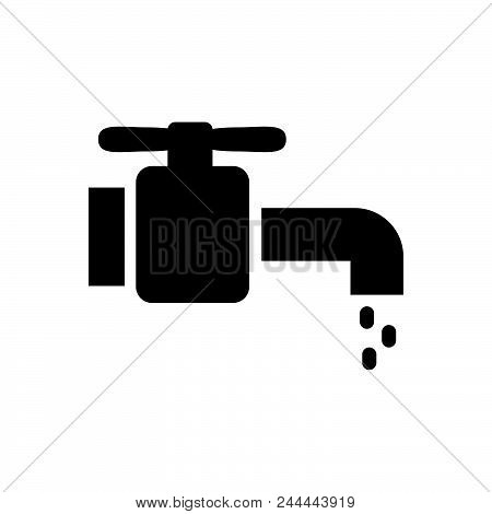 Water Tap Vector Icon On White Background. Water Tap Modern Icon For Graphic And Web Design. Water T