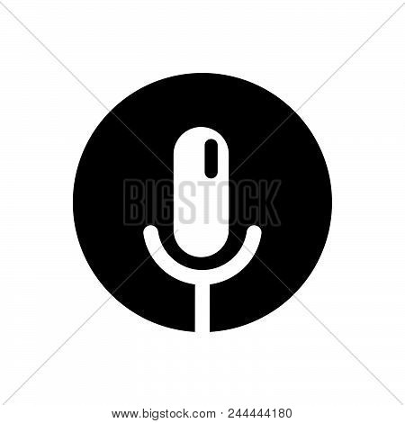 Voice Record Vector Icon On White Background. Voice Record Modern Icon For Graphic And Web Design. V