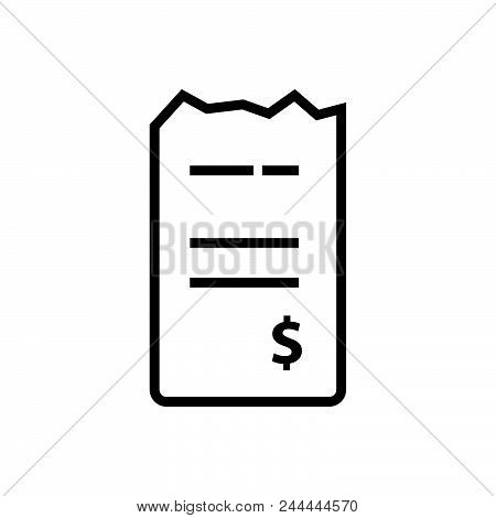 Bills Vector Icon On White Background. Bills Modern Icon For Graphic And Web Design. Bills Icon Sign
