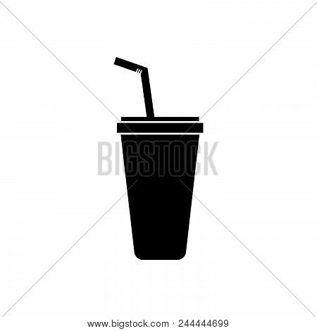 Cold Drink Vector Icon On White Background. Cold Drink Modern Icon For Graphic And Web Design. Cold