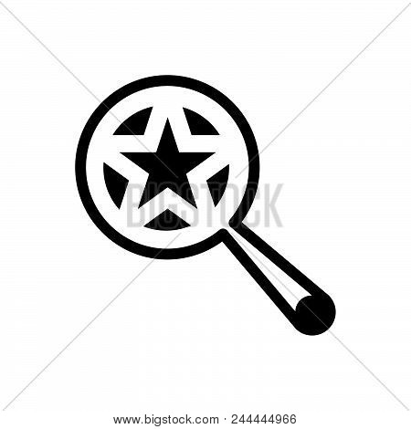 Searching Favorites Vector Icon On White Background. Searching Favorites Modern Icon For Graphic And