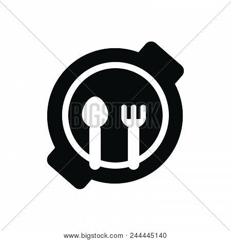 Child Plate Vector Icon On White Background. Child Plate Modern Icon For Graphic And Web Design. Chi