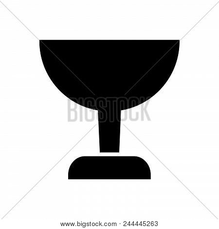 Glass Vector Icon On White Background. Glass Modern Icon For Graphic And Web Design. Glass Icon Sign