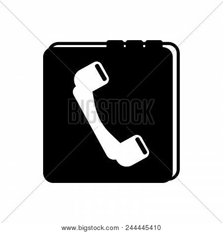Phone Book Vector Icon On White Background. Phone Book Modern Icon For Graphic And Web Design. Phone