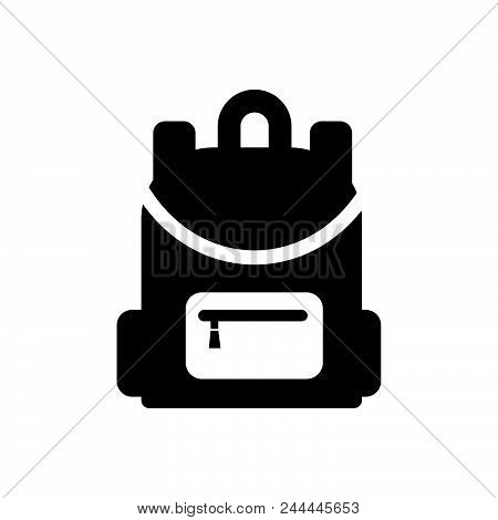 Backpack Vector Icon On White Background. Backpack Modern Icon For Graphic And Web Design. Backpack