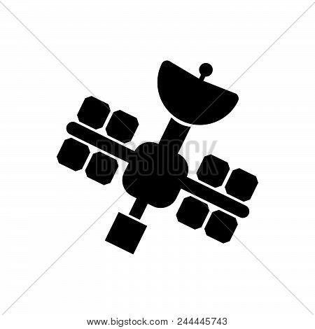 Satellite Vector Icon On White Background. Satellite Modern Icon For Graphic And Web Design. Satelli
