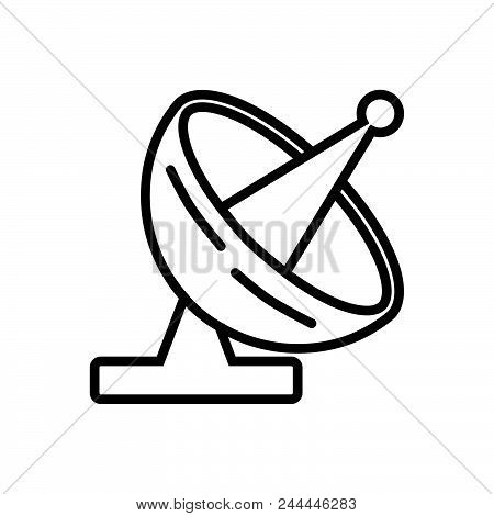 Satellite Front View, Antenna Front View Outlined Symbol. Satellite Icon. Satellite Icon. Satellite