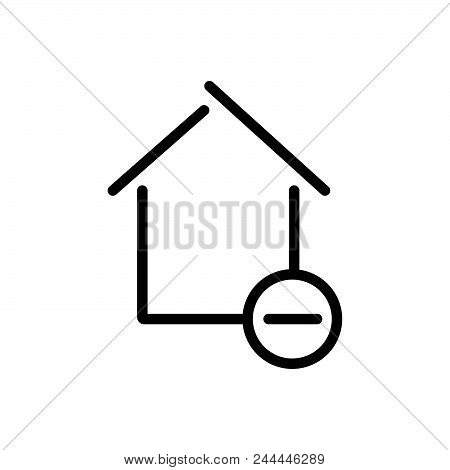 remove property Outlined symbol of relocate house.  remove property icon. remove property icon. remove property icon poster