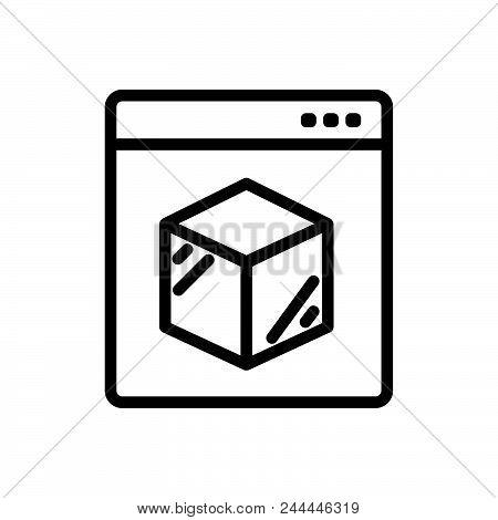 Online Logistics Outlined Symbol Of Online Delivery System. Online Logistics Icon. Online Logistics